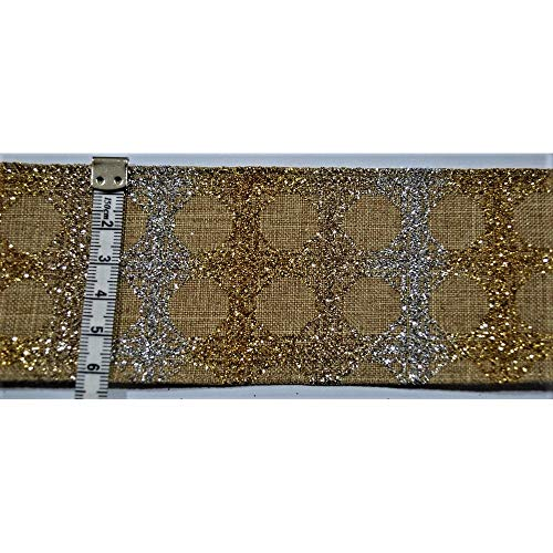 TOMASELLI MERCERIA Band Lino Lurex Gold Zilver tafelkleed 62 mm