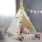 Sarahjers-Toys Kinder Indoor Spielgeräte Zelte tragbares Baumwollsegeltuch-Zelt Innenraumdekoration...