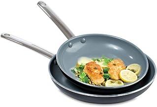 طقم طاسات أخضر قطعتين من بون جرين بان 24+28 سم