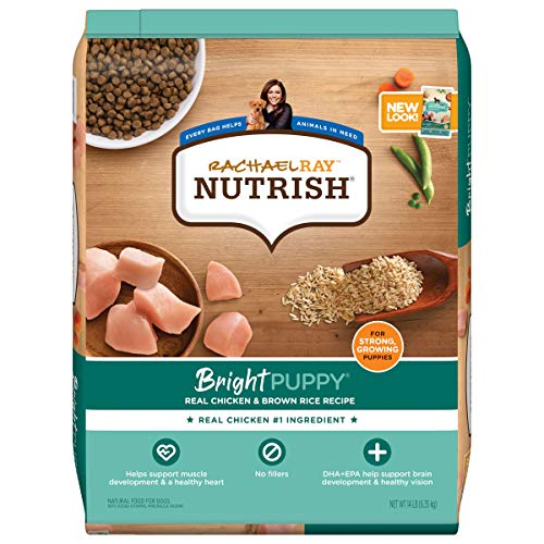 Rachael Ray Nutrish Bright Puppy Premium Natural Dry Dog Food, Real Chicken & Brown Rice Recipe, 14 Pounds (Packaging May Vary)
