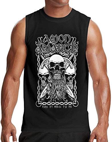 Mens Sleeveless Tshirts Mans Amon Amarth Clothes Black,3X-Large