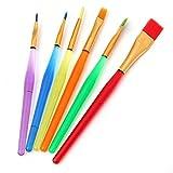 Hemore - Juego de Pinceles de Pintura multifuncionales para Acuarelas, aceites, acrílicos y Pintura de Detalles 5 M