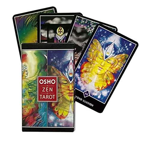 Osho Zen Tarot, Juego Tarot Deck, Juego De Cartas De Mesa Interior, Adecuado para Tarjetas De Juegos De Fiesta Y Festivos (Paquetes, Manteles)