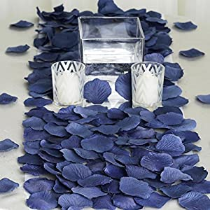 BalsaCircle 2000 Navy Blue Silk Artificial Rose Petals Wedding Ceremony Flower Scatter Tables Decorations Bulk Supplies Wholesale