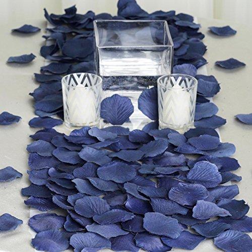 BalsaCircle 2000 Navy Blue Silk Artificial Rose Petals Wedding Ceremony Flower Scatter Tables Decorations Bulk Supplies Wholesale