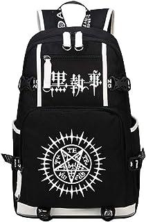 Siawasey Black Butler Cosplay Luminous Bookbag Backpack Shoulder Bag School Bag for 15'' laptop