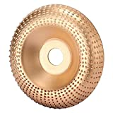 Disco de Amoladora Angular de Carburo de Tungsteno 100mm, Muela Abrasiva de con Orificio 16mm para Amoladora Angular, Disco de Talla de Madera Poweka Herramienta de Corte de Carpintería (Oro)