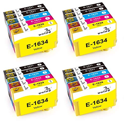 16XL Cartucce d'inchiostro ONINO Compatibile per WF-2520NF WF-2530WF WF-2540WF WF-2630WF WF-2650DWF WF-2010W WF-2510WF WF-2660DWF WF-2750DWF WF-2760DWF (20pcs)