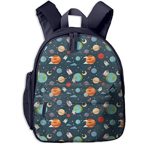 Bolsa La Escuela Mochila con Tierra Marte Saturno para Impermeable Mochilas para Niños Niñas