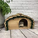 Selections Wooden Hedgehog House With Bark Roof