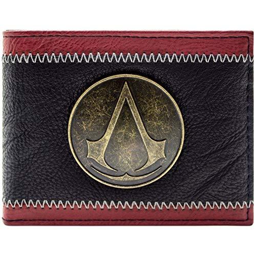 Assassins Creed Distintivo di stemma in bronzo Nero Portafoglio