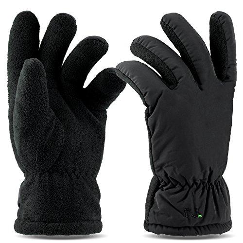 Tarjane Winterhandschuhe Thermo Handschuhe für Damen und Herren mit Fleece extrem warm TOG 6.3 S/M - Schwarz