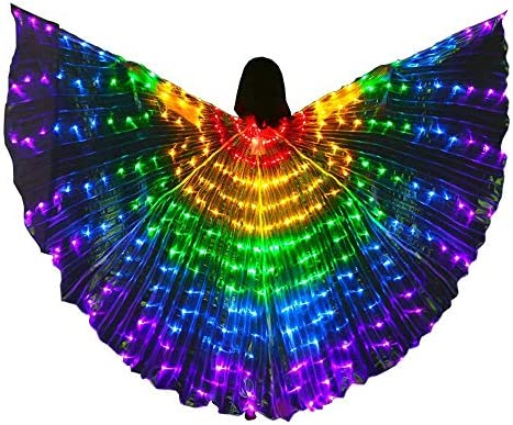 LED Kids Belly Dance Wings Girls Colorful Butterfly Wings Tap Dancing Equipment Glowing Light product image