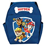 Personalized Paw Patrol Ready for Adventure Backpack with Zipper Pockets and Adjustable Shoulder Straps - Custom Name Printed on Book Bag, Youth Size 14' x 17', Blue