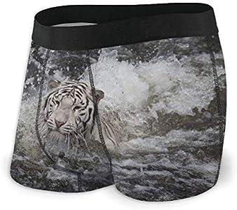 Natación Tigre Blanco Ropa Interior para Hombres Calzoncillos bóxer Calzoncillos Deportivos de algodón Talla L