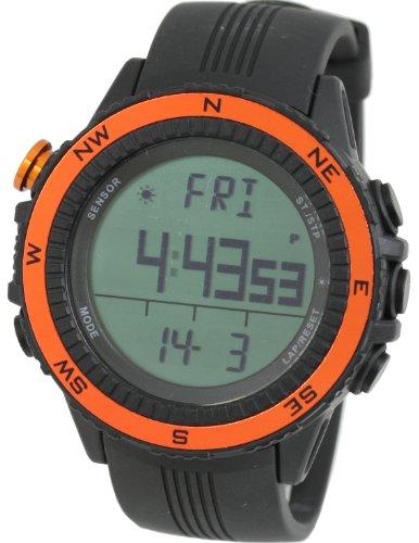 [ラドウェザー] アウトドア腕時計 ドイツ製センサー 高度計 気圧計 温度計 方位計 天気予測 登山 スポーツ時計 (オレンジ(通常液晶))