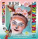 Eulenspiegel- Schminkset REH 205006 – Set Ciervo, para Aprox. 40 máscaras, Colores de Maquillaje, Carnaval, Fiesta temática, Multicolor
