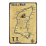 Jinlyp Isla de Man TT Motocicleta Cartel de Chapa Placa Metal Retro Shabby Chic Pared Bar Tienda Gar...