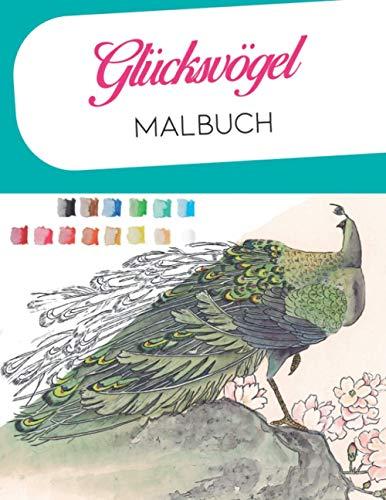 Glücksvögel malbuch: aquarell malbuch