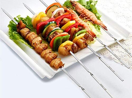 COOLSHOPY Gabeln 10 Packungen Barbecue Slot 304 Edelstahl Flach Slot gegrilltes Fleisch Grill Pin Gegrilltes Kebab Gegrillt Fork Grill-Werkzeug