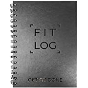 Cossac Fitness Log Book & Workout Planner - Designed by Experts Gym Notebook, Workout Tracker, Exercise Journal for Men Women