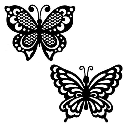 Stanzschablonen   Schmetterlinge   7,1 cm bis 9,1 cm   2 Stück