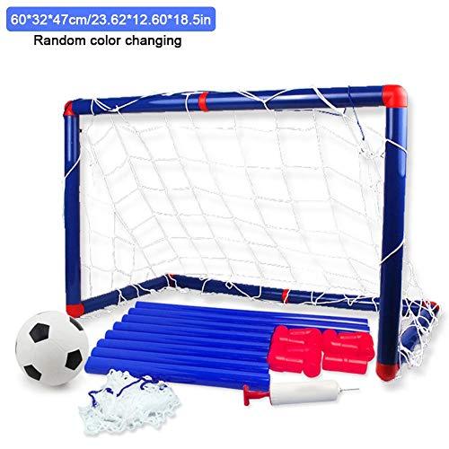 Outdoor-Spielzeug, das Kindern gefällt Fußball Fußball Tore Beiträge mit Nets Pegs Ball & Pump Kinder Kinder Junior Spaß Kleine Mini Tragbare Indoor Outdoor Sport Training Praxis