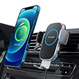 Aouevyo 車載ワイヤレス充電器 15W急速 車載ホルダー スマホホルダー 車 自動開閉 エアコン吹き出し口用 360度回転 iPhone 12 / 12pro / 12 pro max /12 Mini / 11 / 11pro / 11 promax/XS/XR / 8 / Samsung S8 / S9 / S10 などqi機種対応 4.0-7.0インチに対応