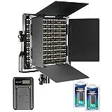 Neewer 調光可能な二色660 LEDビデオライト  Uブラケット、バンドア、充電式Li-ionバッテリー(二つ)、USB充電器(一つ)付き 3200-5600K、CRI96+ スタジオ撮影、YouTube、商品撮影、ビデオ撮影に適用