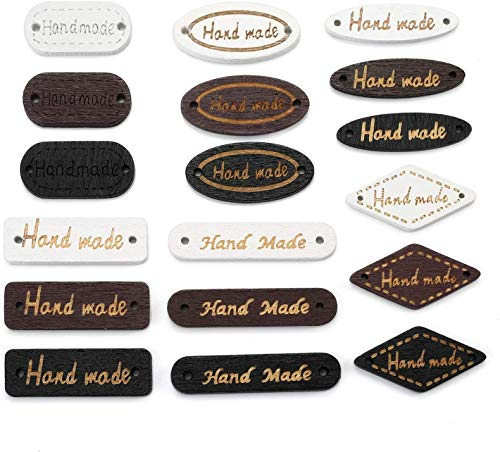 150 botones de madera hechos a mano, botones de madera hechos a mano, botones de madera, costura, manualidades, decoración, etiquetas de ropa para manualidades, joyería, accesorios de búsqueda