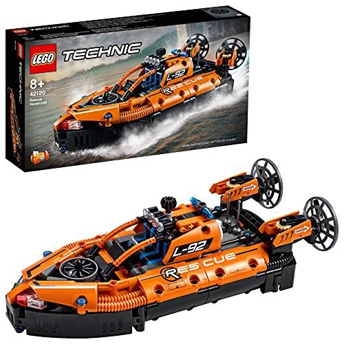 LEGO Technic Hovercraft di Salvataggio e Aereo Bimotore, Giocattolo 2 in 1, Costruzioni per Bambini e Bambine 8 Anni, 42120