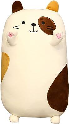 【elfyuna】抱き枕 ぬいぐるみ ☆福ニャン☆ だきまくら 癒し 招き猫 (三毛猫, L)