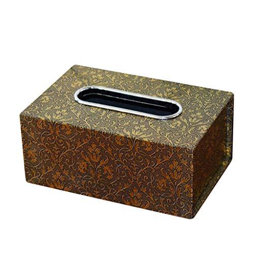 Kosmetiktücher Auto Tücherbox Haus Taschentuchbox,Vintage Kosmetiktücherbox Rechteckig Tücherboxen Taschentuchspender Spender Aufbewahrungsbox 18,5 x 12 x 8,5 cm (I)