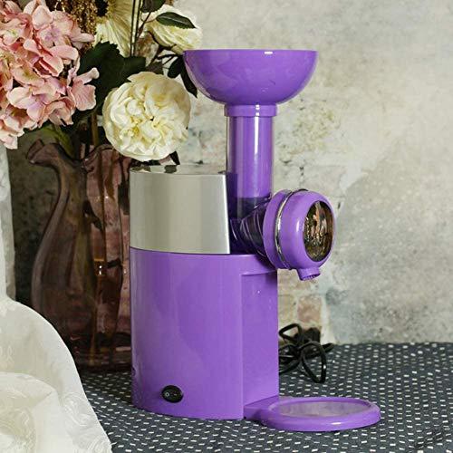 DXQDXQ Mini Klein Speiseeisbereiter Eismaschine Automatische Dessert Eismaschine für Gefrorene Früchte Speiseeismaschine Kind DIY Hausgemachtes EIS, Sorbet, Frozen Jogurth Zuhause (Color : Purple)