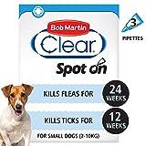 Bob Martin Clear <span class='highlight'><span class='highlight'>Flea</span></span> & Tick Fipronil Spot On for Small Dog, 3 Tubes