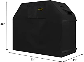 Felicite Home 52 Inch Grill Cover BBQ Grill Cover,Gas Grill Cover for Weber,Water Resistant,Black