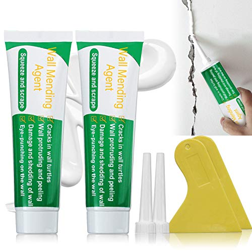 2 Pcs Safemend Non-toxic Wall Mending Agent Kit, Safe Mend Wall Repair, Drywall Patch for Quick & Easy Solution to Fill The Holes and Crack in Your Wall Surface