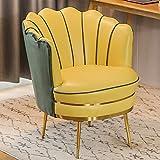 Sillón Butaca de Salón,Sillón de Relax para Dormitorio Salón o Sala de Estar Tapizado en Piel Sintética,Amarillo