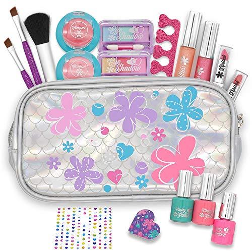 JOYIN 18 Pieces Pretend Makeup Deluxe Kit for Girls Play...