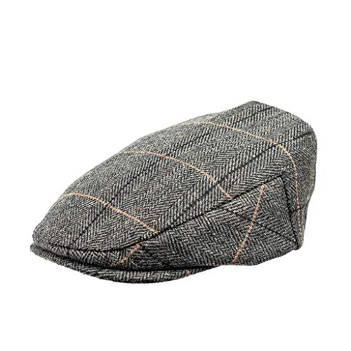 Born to Love Baby Boy Jeff Hat Vintage Driver Tweed Flat Pageboy Kid Gatsby Cap (XL 56cm (6-8 yrs), Oliver)