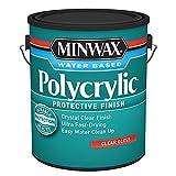 Minwax 211114444 Polycrylic Protective Wood Finish, Clear Ultra Flat, ½ Pint