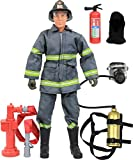 Click N' Play CNP30640 Urban Firefighting 12'' Action Figure Play Set with Accessories, 12 inches