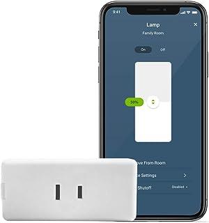 Leviton D23LP-2RW Decora Smart Wi-Fi Mini Plug-in Dimmer (2nd Gen), Works with Hey Google, Alexa, Apple HomeKit/Siri, and ...