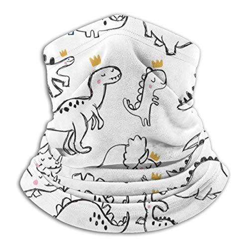 Neck Warmer Dinosaur T-Rex Wears Crown Neck Warmer Windproof Balaclava Fleece Hood Free UV Winter Hats