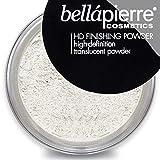 bellapierre HD Finishing Powder   High-Definition Setting Powder   Silky, Shine-Free Matte Finish   Lightweight Gentle Formula   Non-Toxic and Paraben Free   Mica Makeup (Translucent)