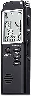COODIO 8GB/16GB/32GB Voice Recorder USB Professional Dictaphone Digital Audio Voice Recorder with WAV MP3 Player Black 8GB...