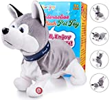 Marsjoy Husky Robot Toy Dog Electronic Dog Toy, Plush Stuffed Animal Dog Toy , Interactive Puppy Plush Animated Dog, Robot Dog Toy for Kids Toddlers Boys Girls Length 12'