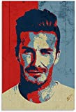 Diy 5d Diamante Pintura Kits Jugador de fútbol americano Beckham diagrama vectorial dos Diamond Painting Completo Bordado Punto De Cruz Craft 11.8'x15.7'(30x40cm) Sin Marco