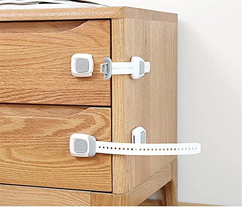 JGFJ Muebles pies de seguridad para el hogar bloqueo de la protección del niño cajón bloqueo de puerta corredera bebé manija de puerta abierta nevera cerradura conveniente y hermoso