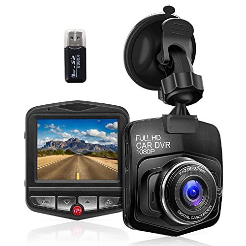 Zhiroad Dash Cam Doppia Telecamera per Auto 1080P FHD,Video Notturno,G-Sensor,Registrazione in Loop,Monitor di Parcheggio,Motion Test,Facile da Installare
